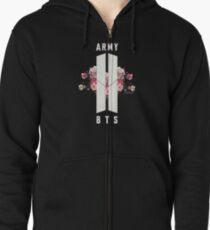 BTS&ARMY: Beyond The Scene (No Background) Zipped Hoodie