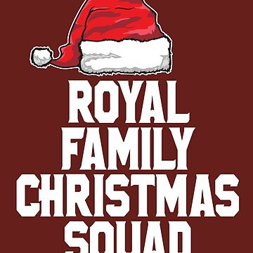 Royal Family Christmas Squad Queen of England UK Funny T-Shirt by lukeyr1