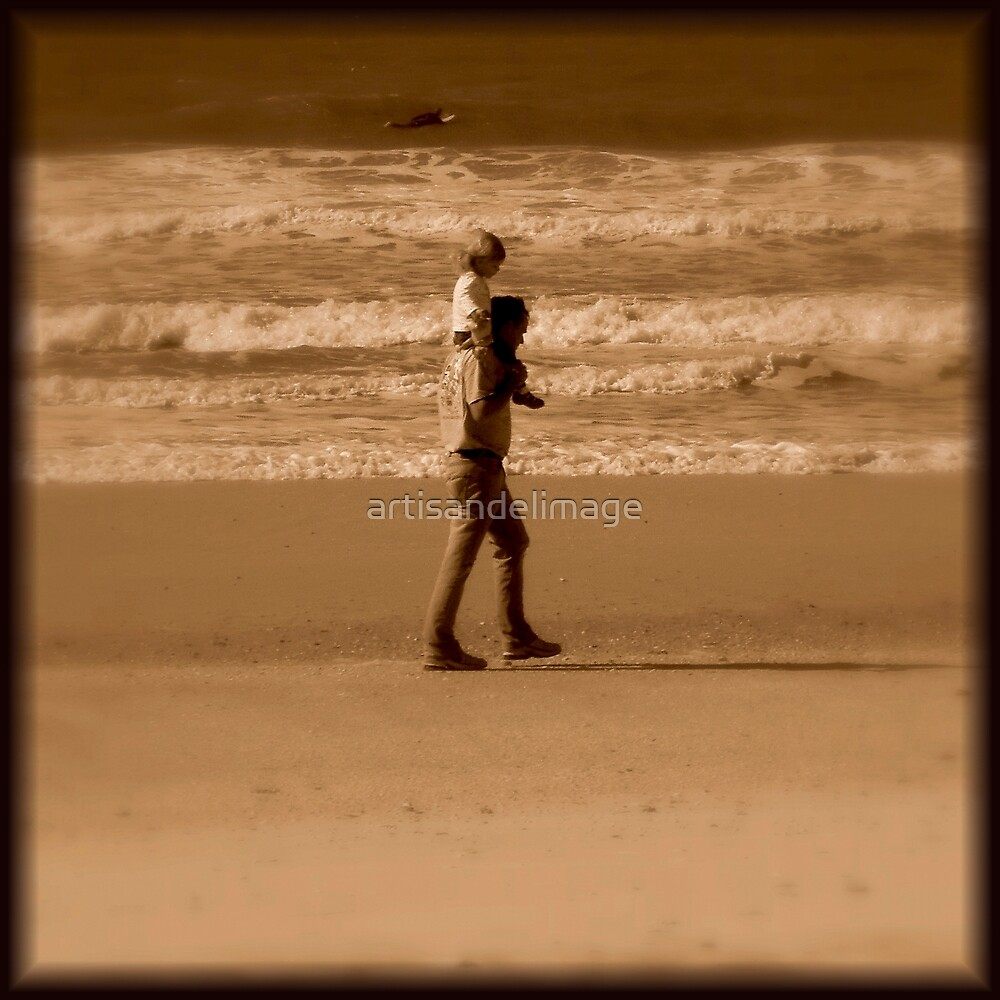Sepia Extravaganza : Father And Daughter by artisandelimage