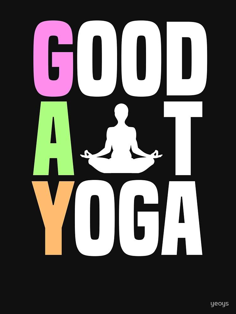 Good At Yoga Padmasana Lotus Pose - LGBT Pride Month Gift von yeoys