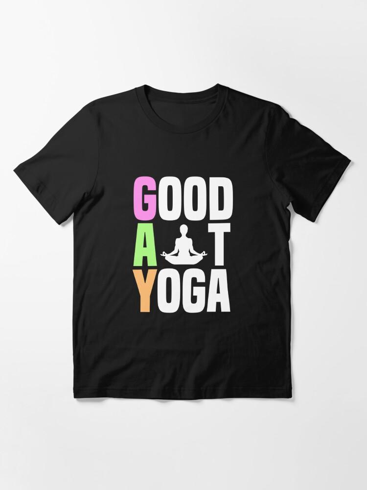 Alternative Ansicht von Good At Yoga Padmasana Lotus Pose - LGBT Pride Month Gift Essential T-Shirt