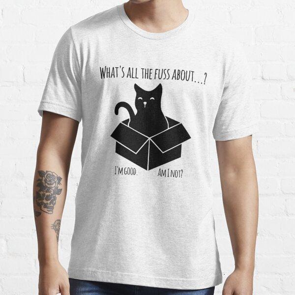 Schroedinger Katze - Experiment mit der Box schwarz Essential T-Shirt