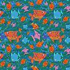 Colorful Fun Fish in the Sea by Judy Adamson