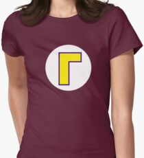 Super Mario Waluigi Icon Womens Fitted T-Shirt