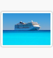 Luxury cruise ship in the Caribbean Sticker