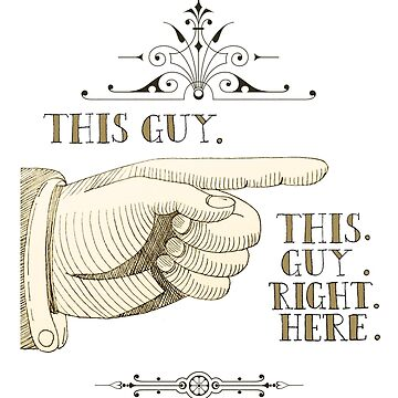 This Guy Right Here - Fun Victoriana Pointing Hand by pennypentan