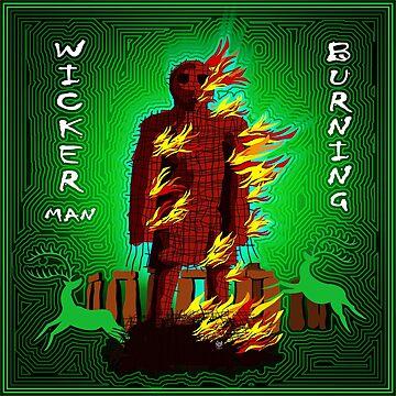 WICKER MAN BURNING GREEN by FieryFinn77