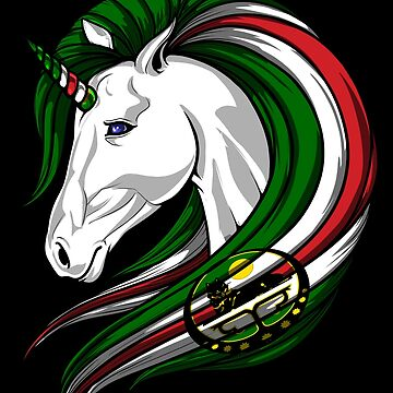 Chechnya Flag Unicorn Chechen Flag DNA Heritage Roots Gift  by nikolayjs