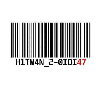 Hitman 2 Barcode by ghosthousedsign