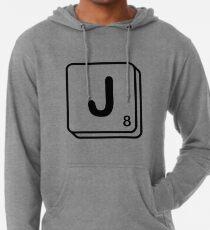 J scrabble print Lightweight Hoodie