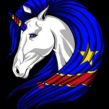 Congo Flag Unicorn Congolese Flag DNA Heritage Roots Gift  by nikolayjs