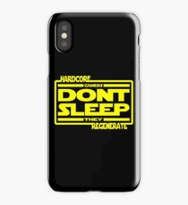Hardcore Gamers Dont Sleep They Regenerate iPhone Case/Skin