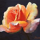 """© Laura Gabel, """"Lesla's Rose"""". 8x10, pastel. Private collection by Laura Gabel"""