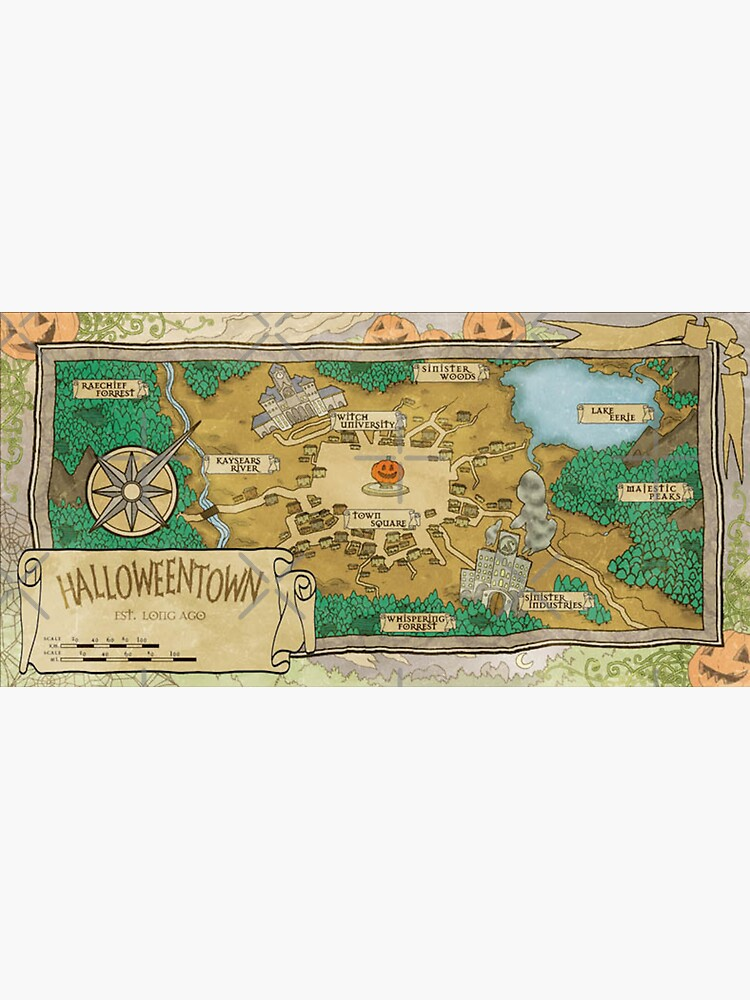 Map of Halloweentown by shaylikipnis