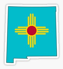 Turquoise New Mexico Sticker