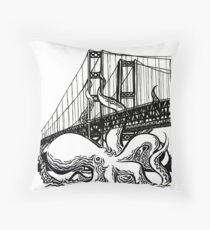Tacoma Narrows Octopus Throw Pillow