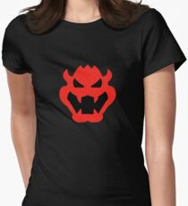 Super Mario Bowser Icon Womens Fitted T-Shirt