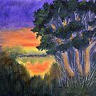 Lakeside Sunset Glow by Warren  Thompson