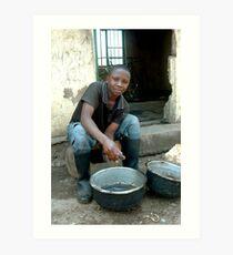 Rwandan Fisherman  Art Print