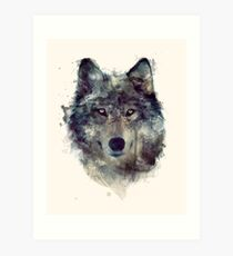 Wolf // Durchhalte dich Kunstdruck