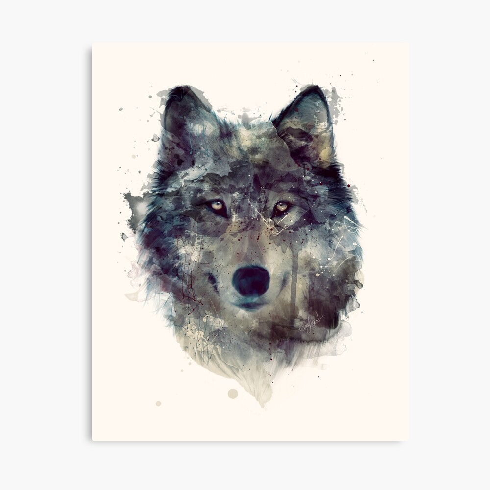 Wolf // Persevere Canvas Print