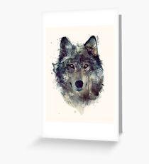 Wolf // Durchhalte dich Grußkarte