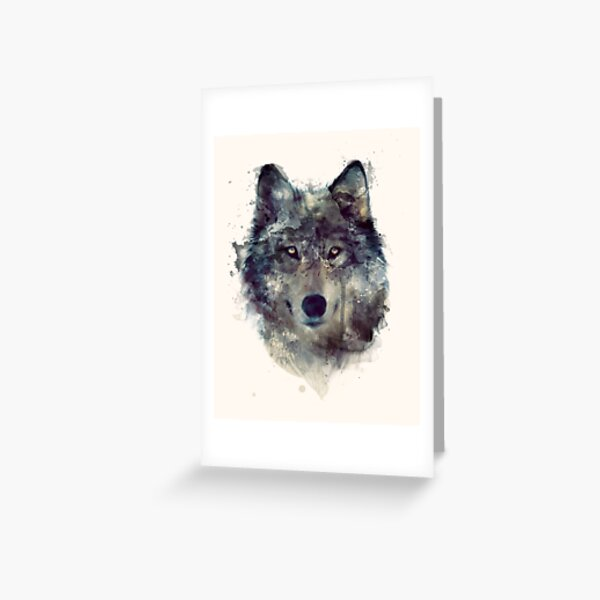 Wolf // Persevere Greeting Card