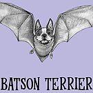 Batson Terrier | Boston Terrier + Bat Hybrid Animal by Jessie Fox - Whatif Creations