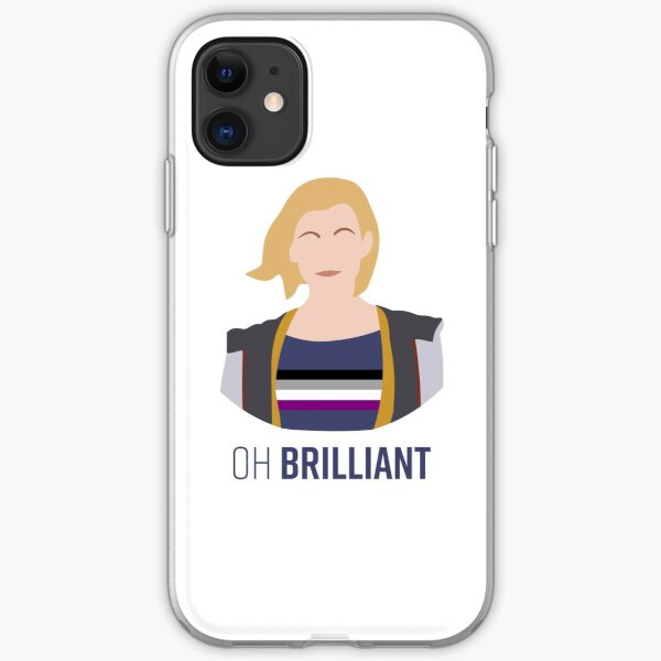 13th Doctor - Oh Brilliant - Asexual Pride iPhone Soft Case
