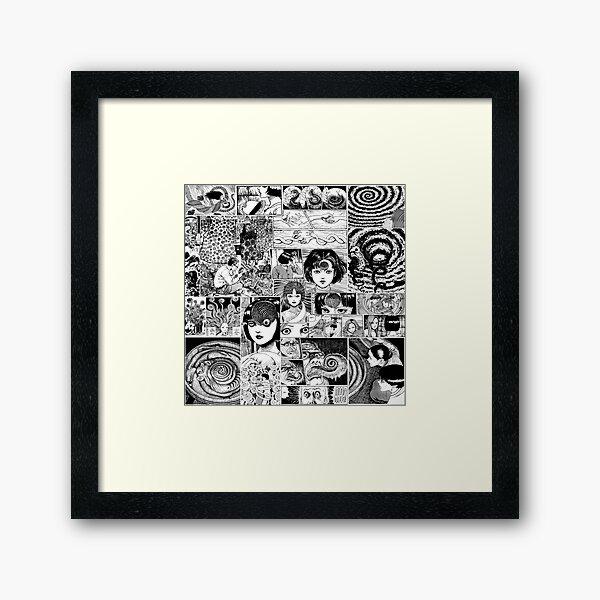 Junji ito Uzumaki collage  Framed Art Print