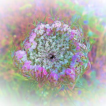 Flower along an Italian mountain road by frugnusdesign
