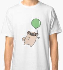 Green Balloon Pug Classic T-Shirt