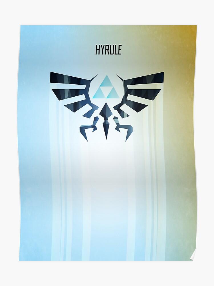 Legend of Zelda Hyrule Rising Minimal Vector Poster | Poster