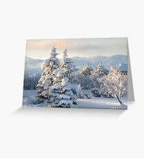 First Light on Last Night's Snow Greeting Card