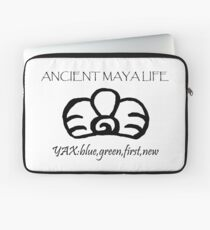 Ancient Maya Life: Yax Glyph Laptop Sleeve