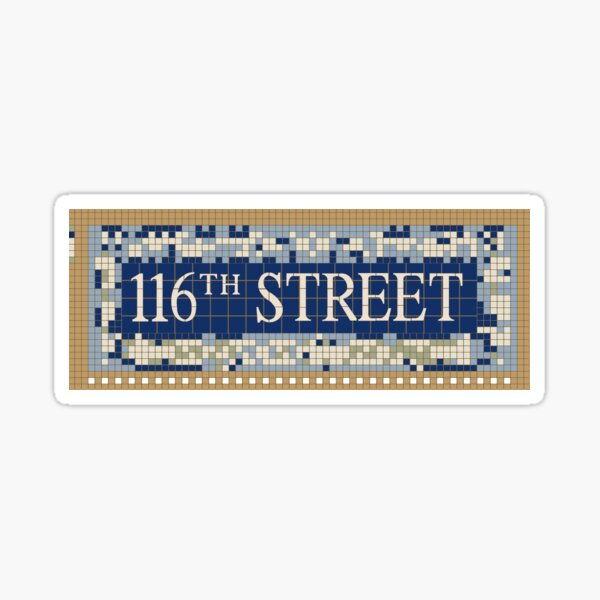 116th st y'all Sticker
