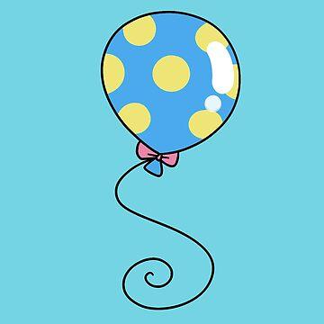 Blue and Yellow Polk-a-dot Balloon by SaradaBoru