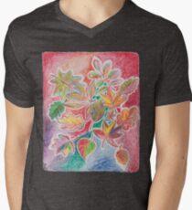 Otoño colorido Camiseta para hombre de cuello en v