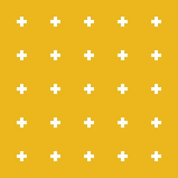 White crosses on yellow by lattedesign