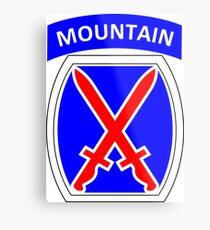 Lámina metálica Insignia de manga de hombro de la 10ª división de montaña del ejército de Estados Unidos