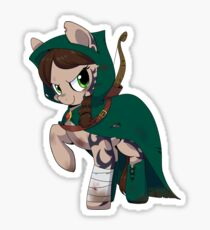 Official Buck: Legacy Green Archer Sticker, illustrated by InkieHeart Sticker