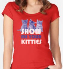 Show Me Your Kitties! Women's Fitted Scoop T-Shirt