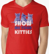 Show Me Your Kitties! Men's V-Neck T-Shirt