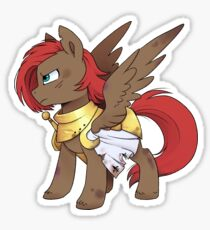 Official Buck: Legacy Golden Knight Sticker, illustrated by InkieHeart Sticker