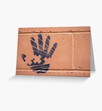 just a handprint Greeting Card