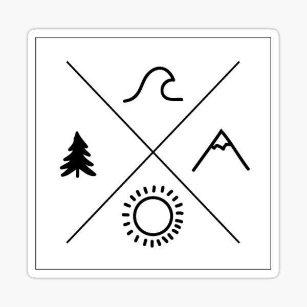 cross nature Sticker