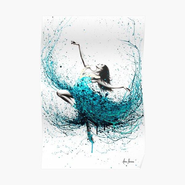 Teal Dancer Poster