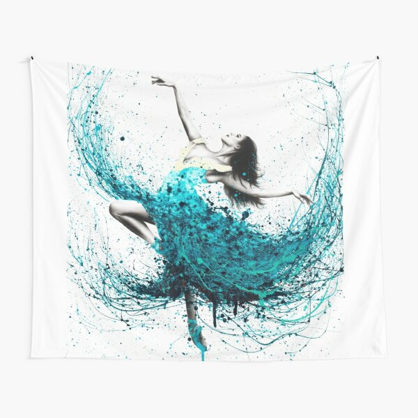 Teal Dancer Tapestry