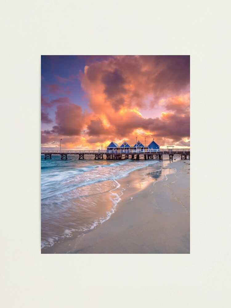 Alternate view of Busselton Jetty at Sunrise Photographic Print