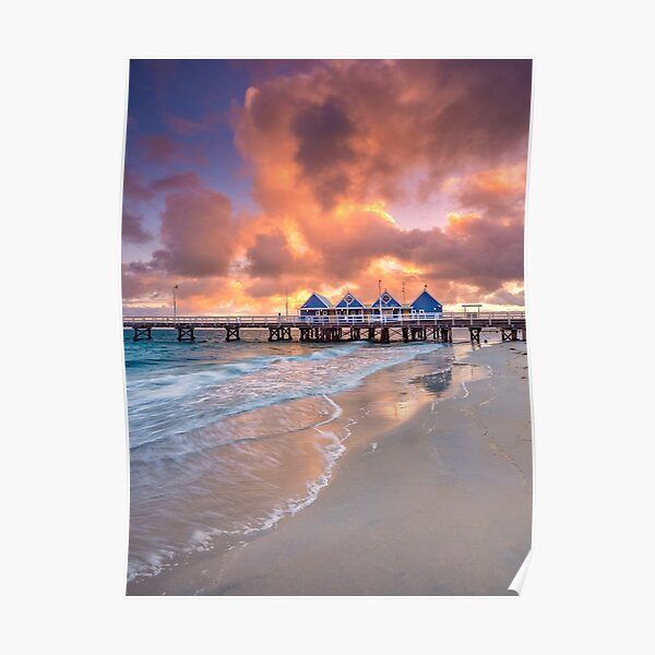 Busselton Jetty at Sunrise Poster